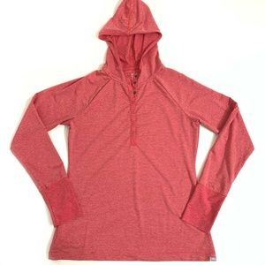 Eddie Bauer Hiking Hooded Base Layer Shirt Small